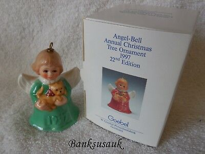1997 22nd EDITION GREEN GOEBEL ANGEL BELL ANNUAL ORNAMENT – MIB