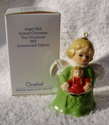 1992 17th EDITION GREEN GOEBEL ANGEL BELL ANNUAL ORNAMENT – VERY RARE & MIB