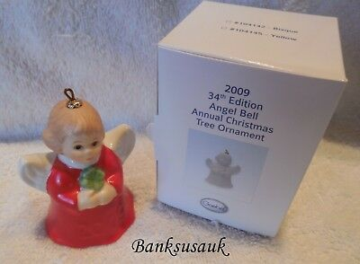 2009 34th EDITION RED GOEBEL ANGEL BELL ANNUAL CHRISTMAS ORNAMENT - MIB