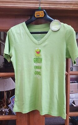 a24a63d5bd77 Hallmark Muppets Green Kermit the Frog T-shirt Women's Size Small - New