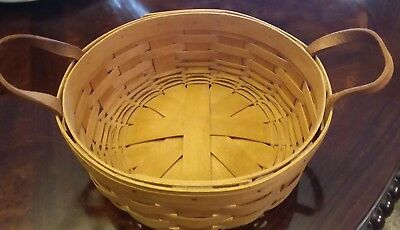 "1993 Longaberger 10 ""round Darning Basket"