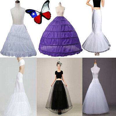 Women Petticoat Slips Bridal Underskirt Crinoline Wedding Dress Long Skirt Party