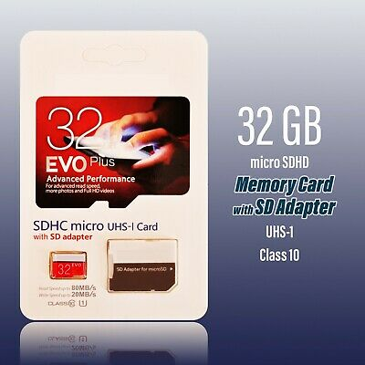 32 GB GENERIC Micro SDHC Memory Card with SD Adapter Class 10 TF UHS-1