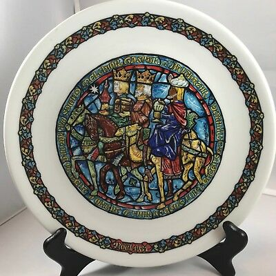 """Henry D'Arceau L & Fils Limoges France """"Guided by A Star"""" Noel Vitrail 1981"""