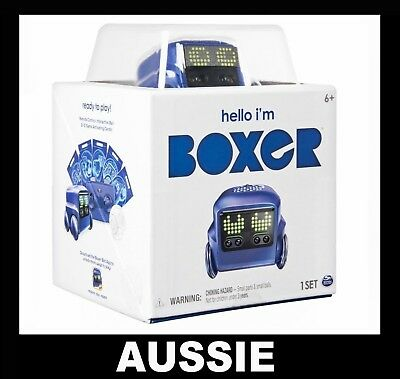 BOXER - Interactive A.I. Robot Toy w/10 Games (Blue) Spin Master ~ NEW