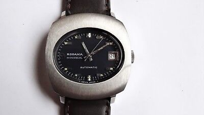 RODANIA MONOSEAL vintage watch automatic RARE NEW NOS