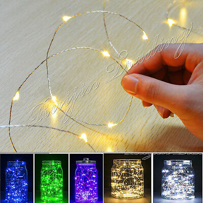 20/30Led Warm White Micro Wire String Fairy Party Xmas Wedding Christmas Cabt