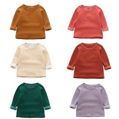 Baby Girls Winter Warm Long Sleeve Padded Sweater Kids Party Casual Blouse Tops
