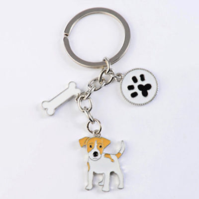 Keychain for Jack Russell Fans Dog Owners Puppy Keyring Key Chain Ring Fob