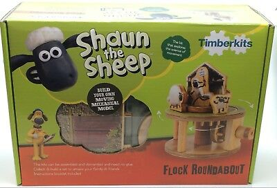 Timberkits Shaun the Sheep Jumping Timmy Self Assembly Wooden Working Model