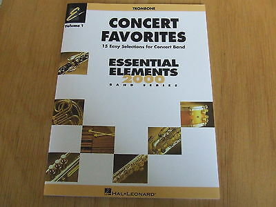 Concert Favorites  Volume 1   (15 easy Selections for Concert Band) Trombone