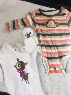 baby clothes set bundle h & m and carter's 6 months and 2 3 4 months