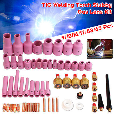 TIG KIT & TIG Welding Torch Accessories Consumables For WP9 20 25 Series 63PK