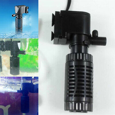 3 in1 Mini Aquarium Internal Filter Oxygen Submersible Water Pump For Fish Tank