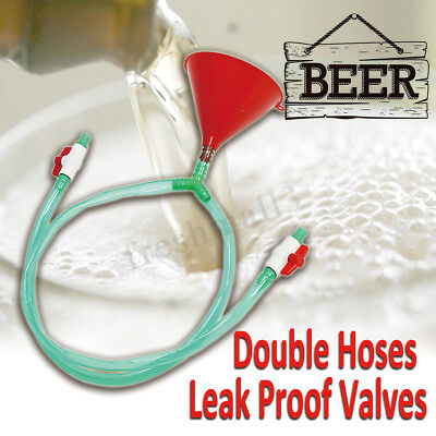 Beer Drinking Party Bong Single Funnel Double 3.28 Ft Tube Bucks Christmas Game