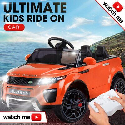 ROVO KIDS Ride On Car Electric Battery Childrens Toy Powered Remote 12V Orange