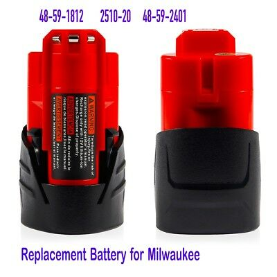 For Milwaukee 48-11-2401 M12 C12 Lithium-ion Red Extended Replace Battery 12V