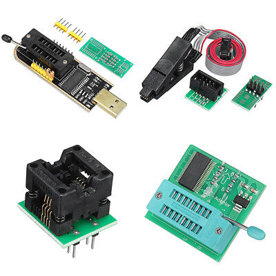 1Set EEPROM BIOS USB Programmer CH341A + SOIC8 Clip + Adapter +SOIC8 Adapter Kit