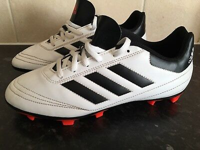 reputable site 7107e 3d812 Adidas Goletto 6 Firm Ground White Football Boots Trainers Size 4 Uk Soccer