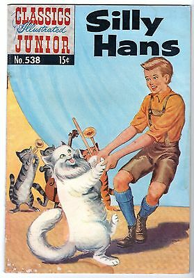 Classics Illustrated Junior #538 Silly Hans - HRN 539, Fine Condition'