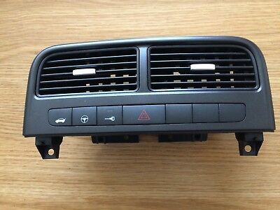 Fiat Grande Punto Air Vents, & Buttons, Black With Silver Slides (2006-2010)