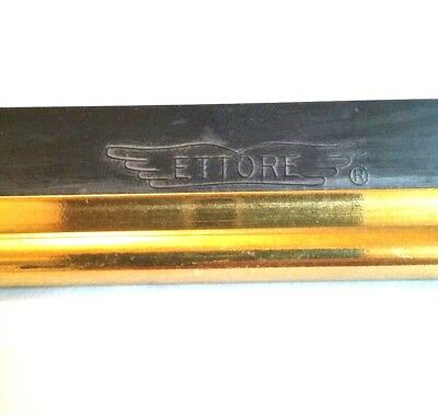 "22"" ETTORE Brass Window Washing Cleaning Squeegee Channel with Rubber"