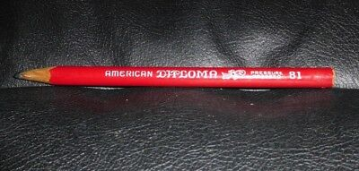 Vintage American Pencil Co. Diploma 81 Red Pressure Proofed Pencil
