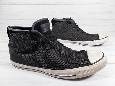 6d2a034f132d CONVERSE ALL STAR Syde Street Mid Black Canvas Athletic Shoes Men s ...