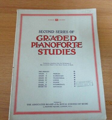 Vintage Graded Pianoforte Studies Second Series Book