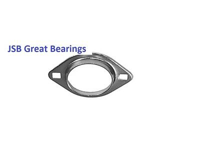 PFL204 Oval 2 Bolt Pressed Steel Bearing Housing for 204 inserts