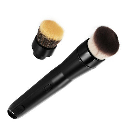 Electric Makeup Cosmetic Brushes Automatic Foundation Powder Brush 2 Heads MT586
