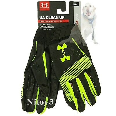 Under Armour Baseball-Softball Clean Up Batting Gloves Youth Large