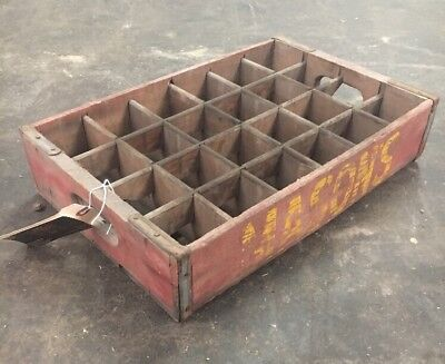 Vintage Wooden Board Antique Mason RootBeer Bottle Crate #2