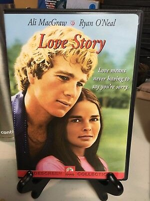 Love Story never viewed DVD Ali MacGraw Ryan O'Neal Widescreen Free Shipping