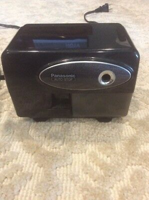Panasonic Electric Black Pencil Sharpener Auto Stop - KP-310