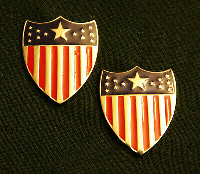 Us Army Adjutant General Corps Officer Collar Insignia; Pair