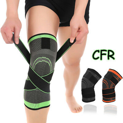Knee Support Sleeve Sprain Football Gym Running Sport Injury Joint Arthritis HG