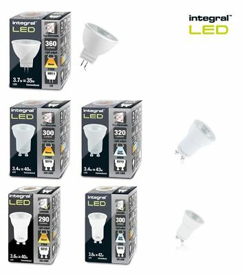 Integral LED MR11 GU4 & GU10 Warm or Cool White 40W equiv (aprox) Dimmable avail