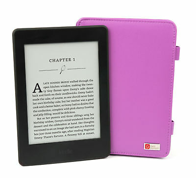 Custom Made Purple Case For Amazon Kindle Paperwhite Inc. EU Mains Plug Charger
