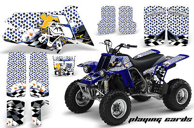ATV Graphics Kit Quad Decal Sticker Wrap For Yamaha Banshee 350 87-05 PLAY CARDS