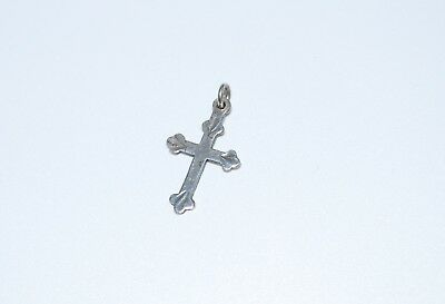 Small Vintage Sterling Silver Cross Pendant or Charm - Lunt Sterling