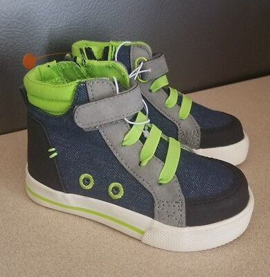 f069d9d1b5 CAT & JACK Toddler Boys High Top Blue Sneakers Size 6,7,8,9,10,11,12 ...