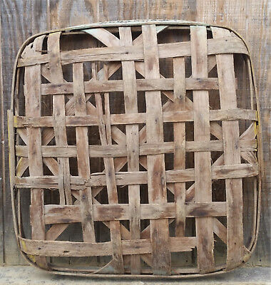 Primitive Tobacco Basket Lebanon Ky Growers  WH Tobacciana Home Decor Hand Made