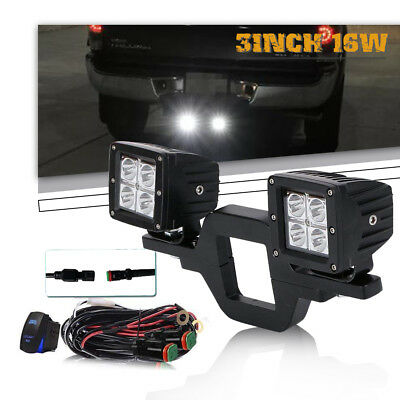 16W Cree LED Work Light Pods Cube Driving Fog Lamp Offroad 4WD for SUV ATV Jeep