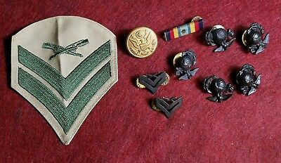 Lot Vintage Marine Corps Eagle Globe Anchor,Screw Back Pins,Button,Military,Rex
