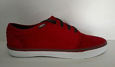 Vans LXVI Vulcanized Men's Suede Red/Grey Scotchgaurd Skate Casual Shoe Sneaker
