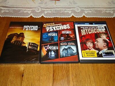 HITCHCOCK and Psycho 1 2 3 4 The Beginning and Bates Motel (3 DVD Set)