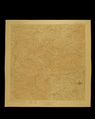 Columbia Tennessee vintage 1940 original USGS Topographical chart