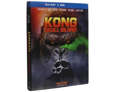 Kong Skull Island 2017 Blu-Ray/DVD W/ Slipcover Movie New Sealed US Seller
