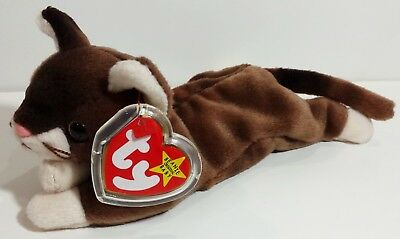 """TY Beanie Babies """"POUNCE"""" Brown Kitten Cat - MWMTs! Perfect Gift! A MUST HAVE!"""